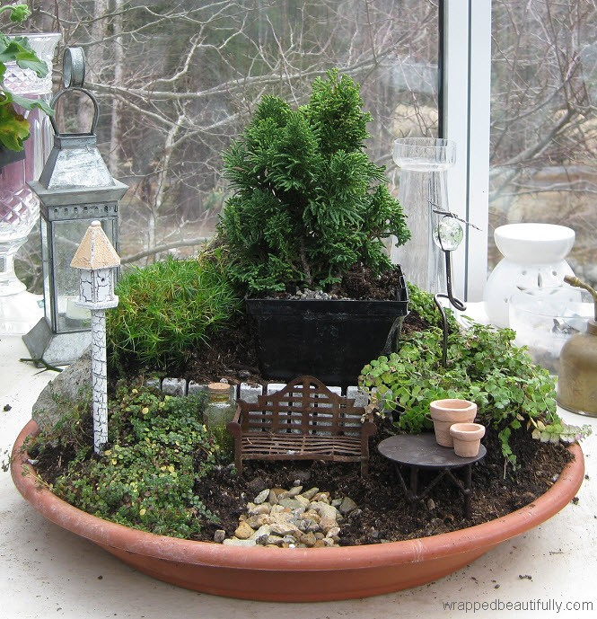 Miniature zen fairy garden article for Jardin zen miniature