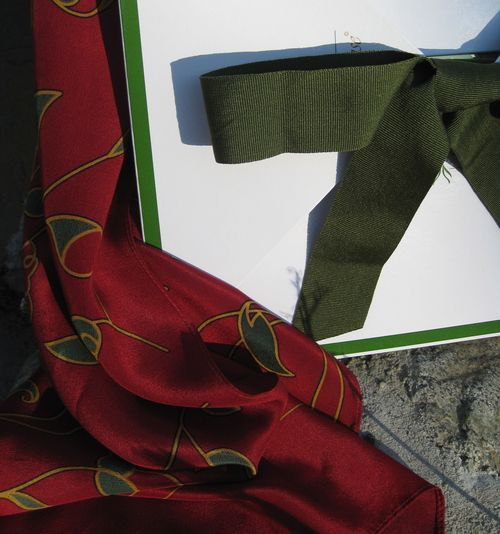 Holiday-red-silk-scarf