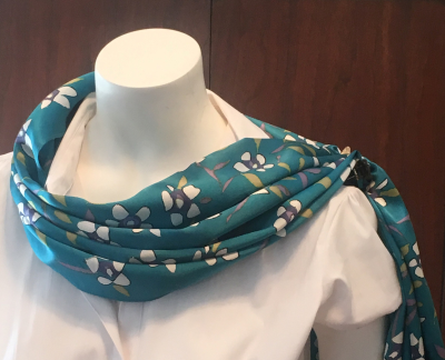 How to make your 100% silk scarf look drop dead gorgeous on